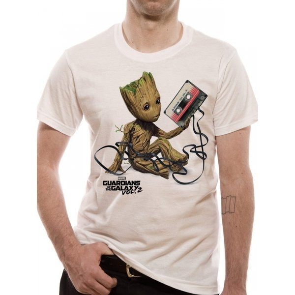 Guardians Of The Galaxy 2 - Groot & Tape T-Shirt weiß