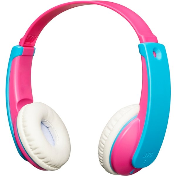 JVC HAKD9BTP Tiny Phones Kids Wireless Bluetooth Headphones - Pink/Blue