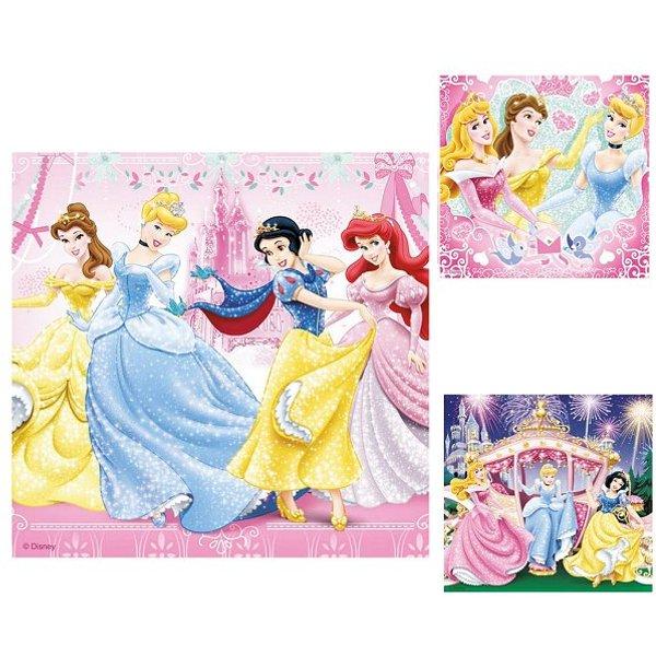 Puzzle 3 x 49 pièces - Blanche-Neige et ses amies