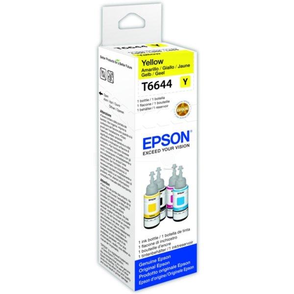 Bouteille d'encre Epson Ecotank T6644 - 70ml Jaune