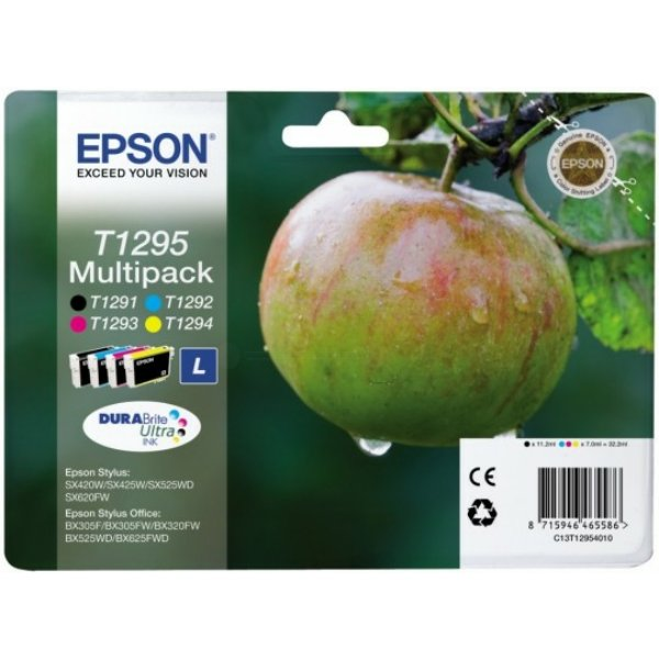 Epson multipack t1295 - pomme - noir, cyan, magenta, jaune