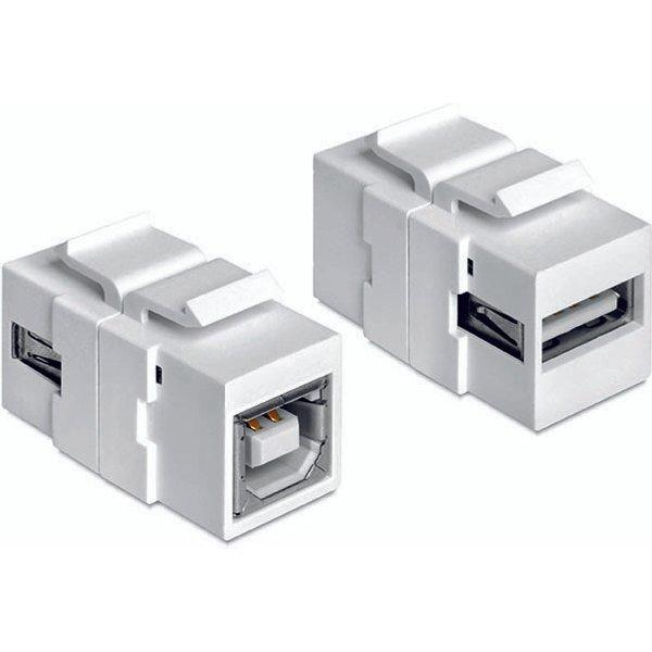 Adaptateur USB 2.0 Delock 1982627 - [1x USB 2.0 type A femelle - 1x USB 2.0 type B femelle] - blanc