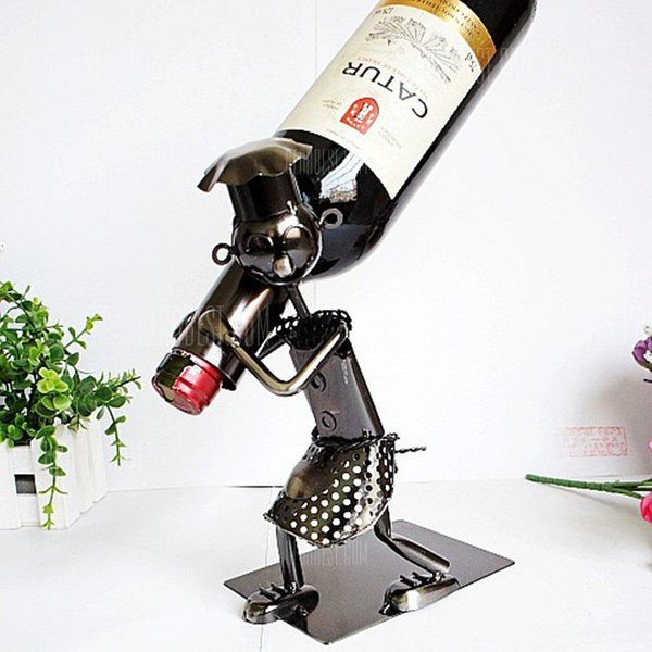2. People Collection Wine Rack Moving Iron Ornaments: £22.31, GearBest (Global)