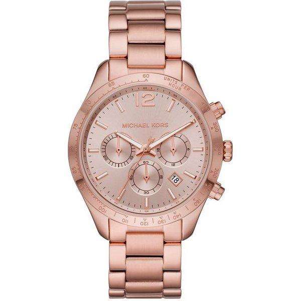 Michael Kors Layton Rose Gold Tone Dial Ladies Watch MK6796