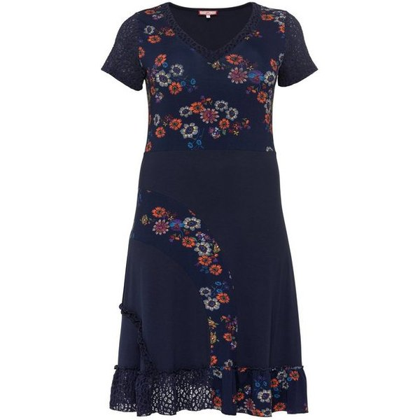 Joe Browns Jerseykleid in Patchoptik mit Spitze