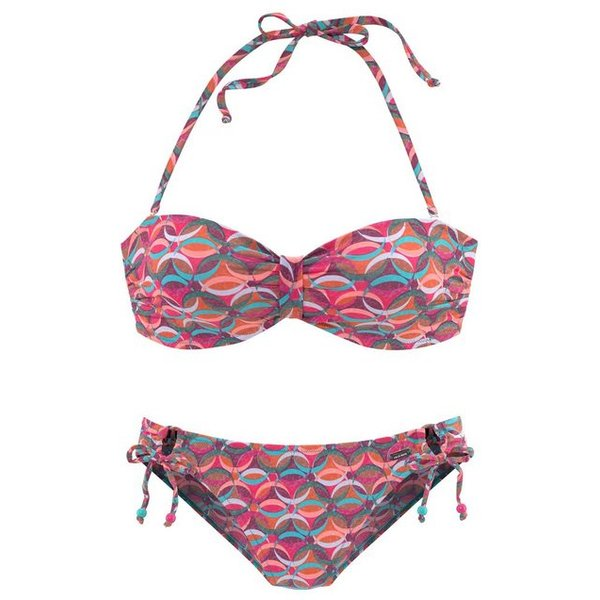 Venice Beach Bandeau-Bikini Mit Zierperlen