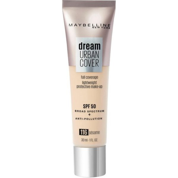 Maybelline Dream Urban Cover SPF50 Foundation 121ml (Various Shades) - 116 Sesame