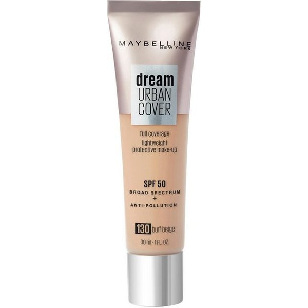 Maybelline Dream Urban Cover SPF50 Foundation 121ml (Various Shades) - 130 Buff Beige