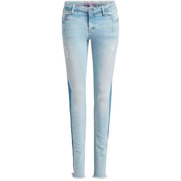 khujo Hose EMBER WASHED BLUE Stoffhosen light blue denim Damen Gr. 27