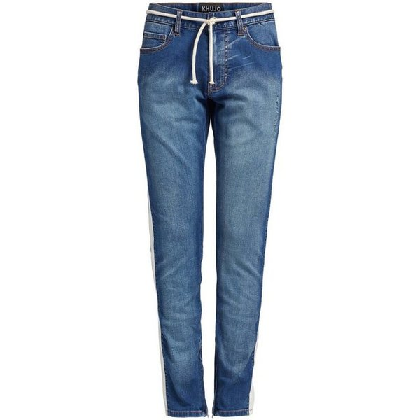 khujo Destroyed-Jeans »GIOVE USED« mit Destroyed-Details und Galonstreifen