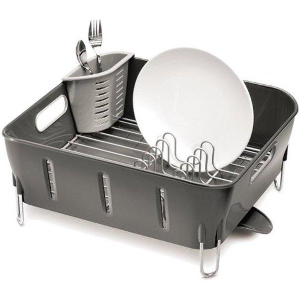 Simplehuman égouttoir à vaisselle compact plastique noir