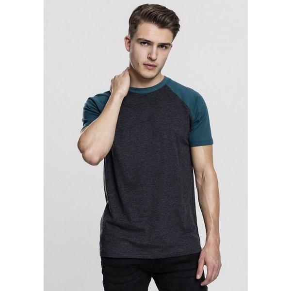 Urban Classics - Raglan Contrast Tee - T-Shirt - mixed grey-black
