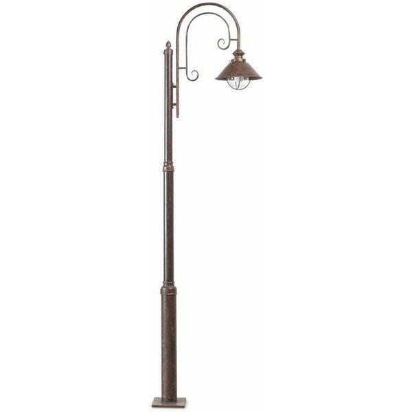 Lampadaire de jardin brun foncé Nautica 1 ampoule