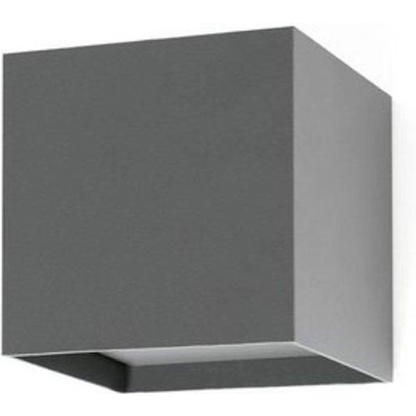 Olan LED outdoor wall light, dark grey