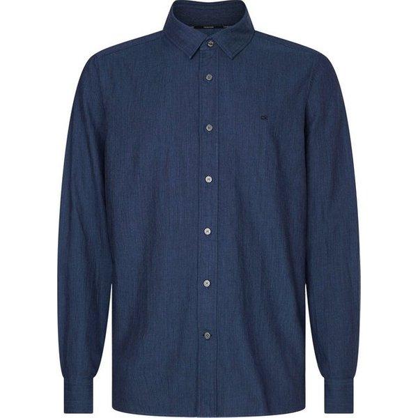 Calvin Klein Langarmhemd »TWO TONE HEATHER TWILL SHIRT«