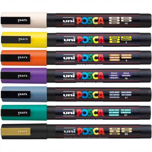 Uni POSCA Marker Rundspitze Softcolors