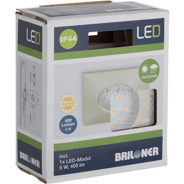 Spot encastré LED carré Ben extérieur nick. mat