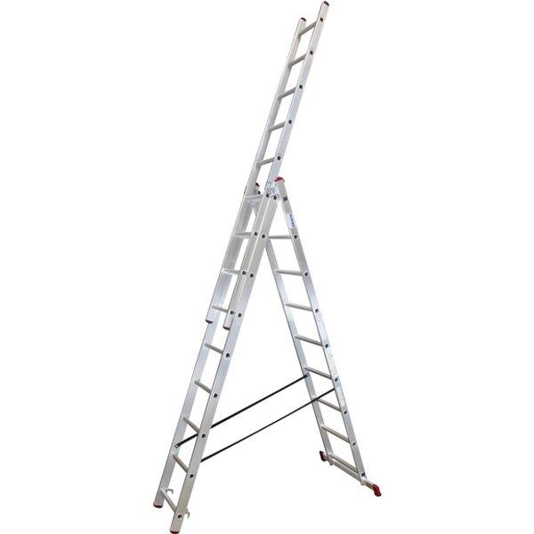 Vielzweckleiter »CORDA«, Anzahl Sprossen: 27, Aluminium