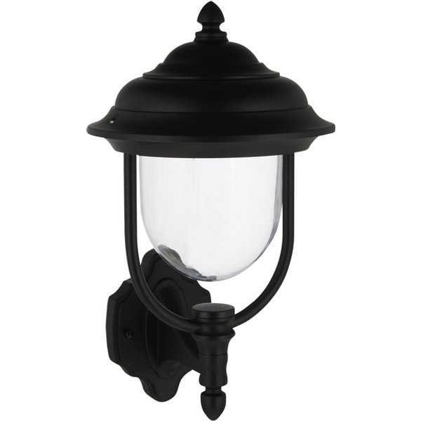 Parma outdoor wall light, standing lantern, black