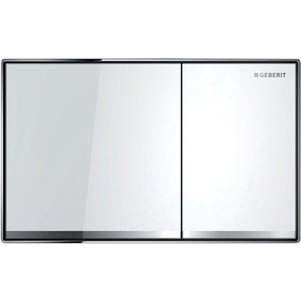 Geberit Plaque de commande Sigma60 pour rinçage 2 volumes, montage encastré, Coloris: blanc / miroir / chromé brillant - 115.640.SI.1