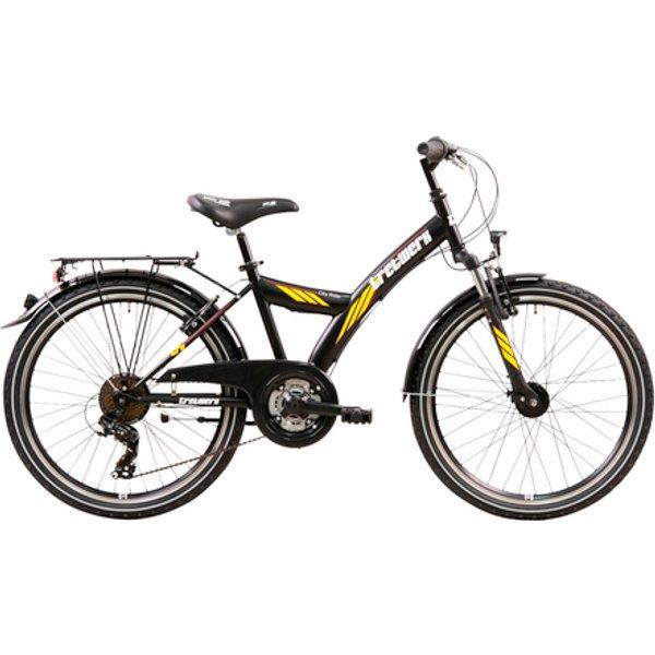 Tretwerk City Rider 24 Zoll ATB Schwarz/Orange 21 Gang Kette