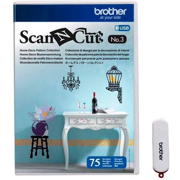 BROTHER Design ScanNCut No. 3 Home & Deco Pattern