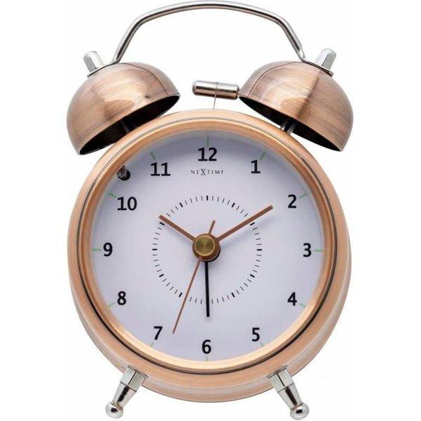 NEXTIME Klassischer Wecker Wake Up Kupfer