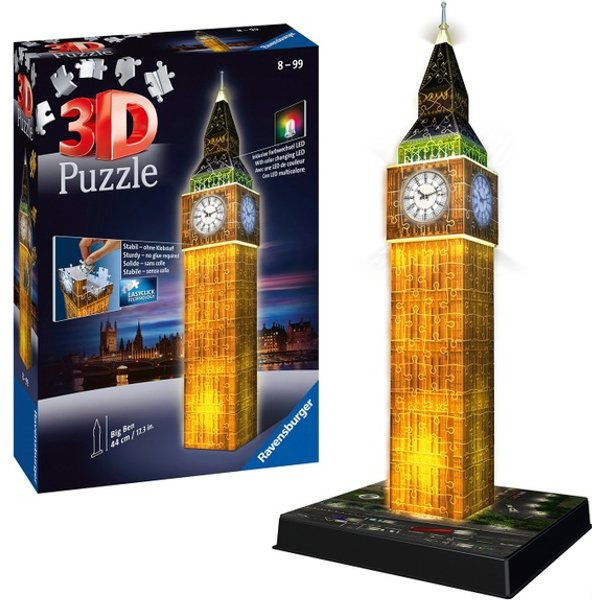 Ravensburger 3D Puzzle Big Ben, Night Edition, 216 Teile
