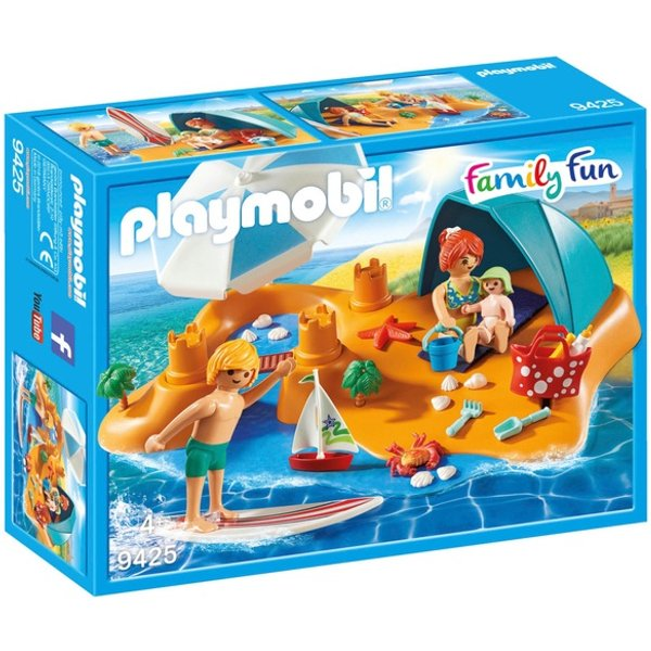 9425 playmobil famille de vacanciers et tente 1218