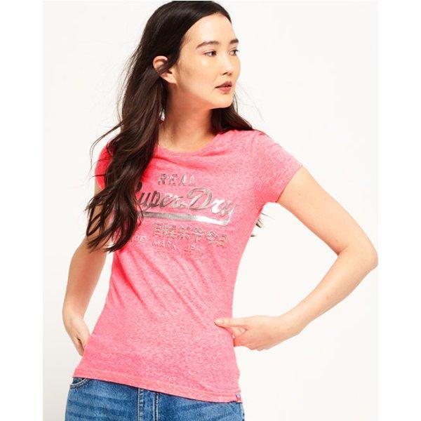 Superdry - Camiseta con logo en relieve y metalizado Vintage - 1