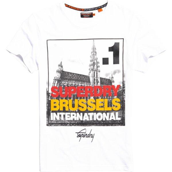 Superdry - Camiseta con fotografía cuadrada de Bruselas - 1