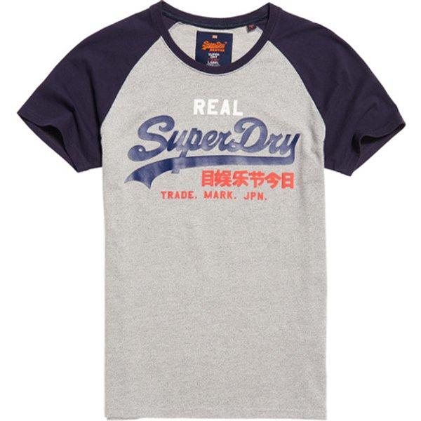Superdry - Camiseta con mangas raglán y logo Vintage - 1