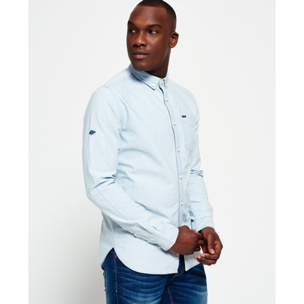 Superdry - Camisa Indigo Loom Oxford - 1