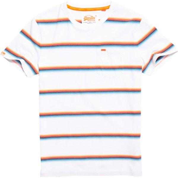 Superdry - Camiseta de rayas Cali Surf Orange Label - 1