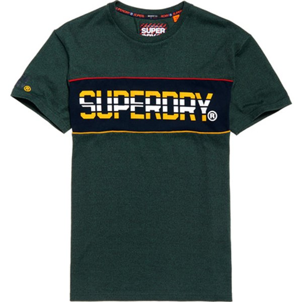 Superdry - Camiseta de corte cuadrado de rayas Retro - 1