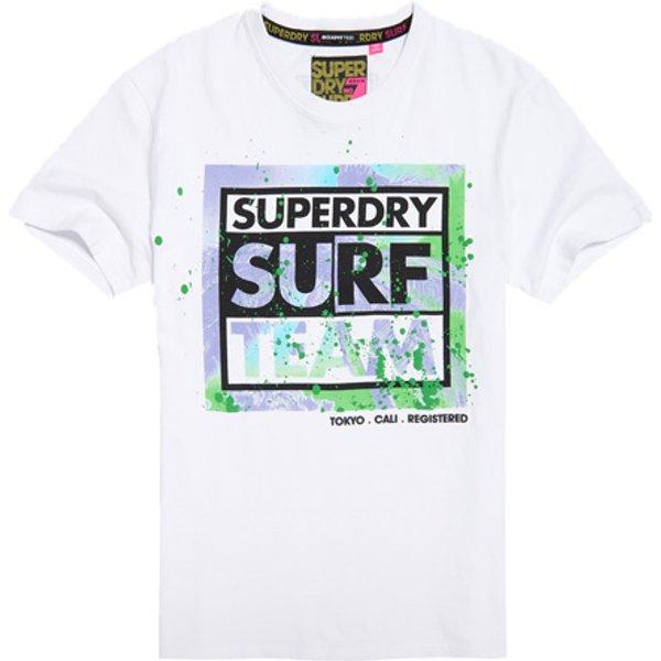 Superdry - Camiseta de corte cuadrado Echo Beach - 1