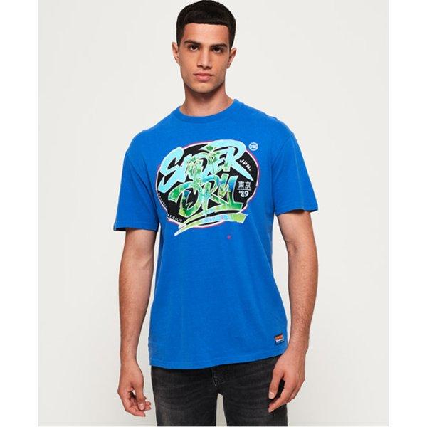Superdry - Camiseta de corte cuadrado Acid Pacifica - 1