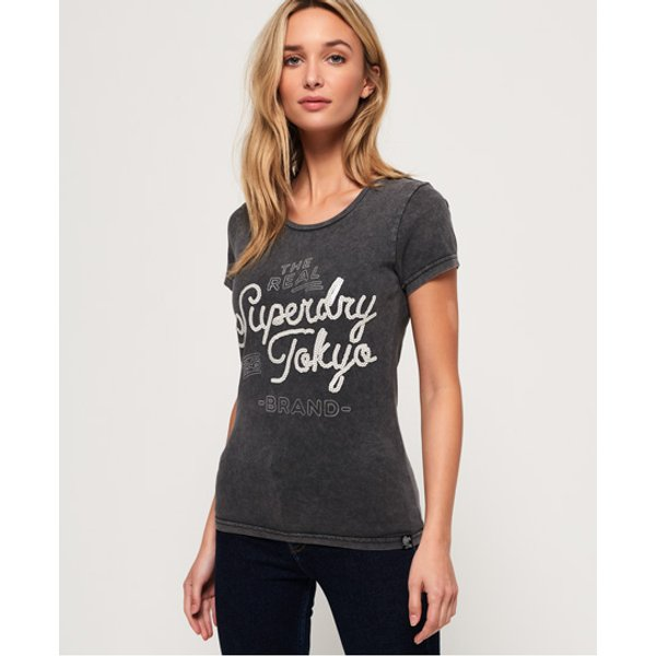 Superdry - Camiseta con lentejuelas Tokyo Brand - 1