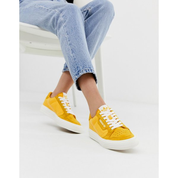 adidas Originals Continental vulc trainers in gold with suede trim