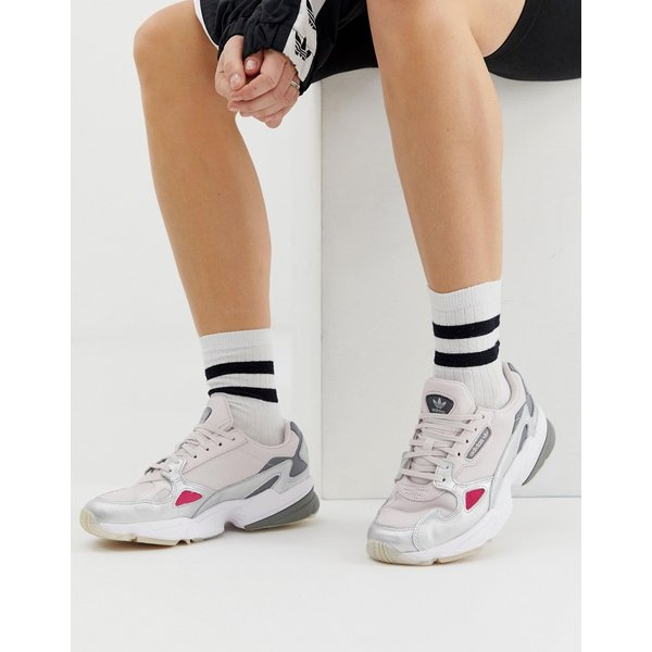 adidas Originals - Falcon - Baskets - Gris et argent