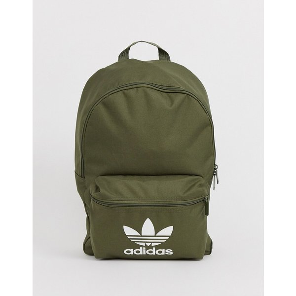 adidas Originals logo backpack in khaki - Green