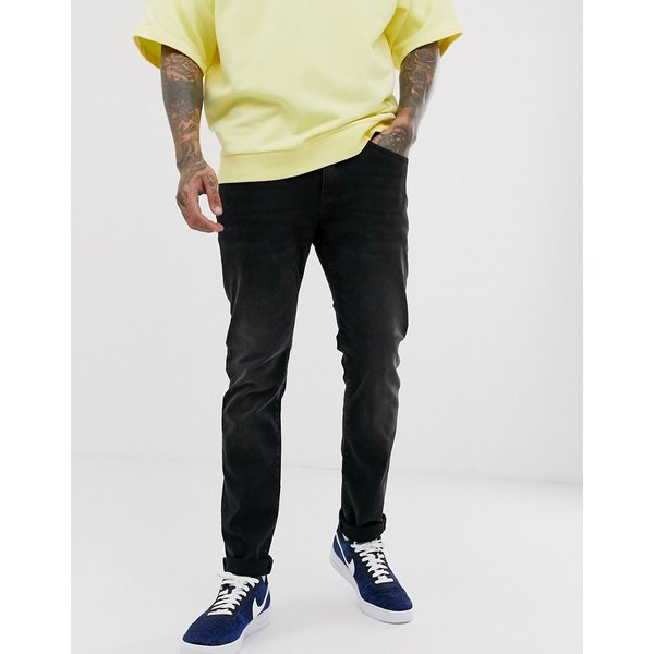 Celio Slim Fit Jeans With Stretch In Black Wash - Black