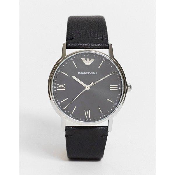 Armani Kappa Black Leather Gents Watch AR11013