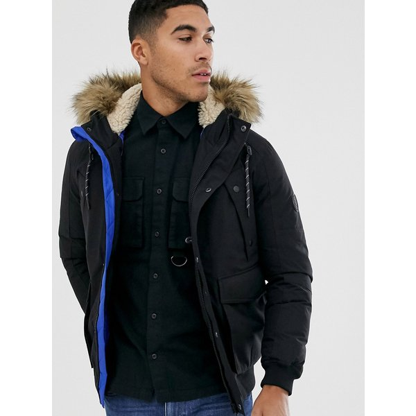 Jack & Jones Originals short parka in black