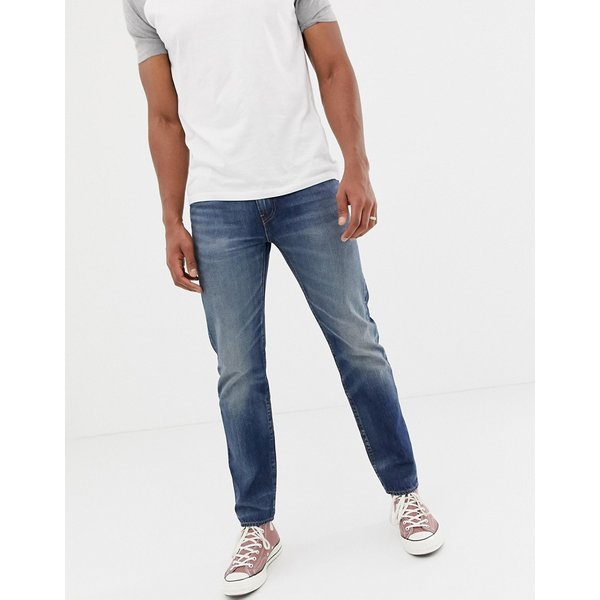 Levi's 502 regular tapered fit jeans in mako cool warp mid wash - Blue