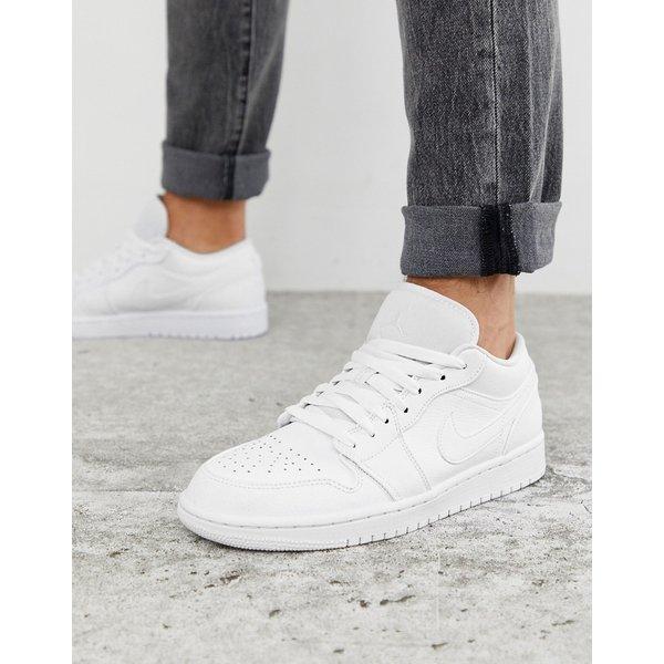 Nike – Air Jordan – Niedrige Sneaker in Weiß
