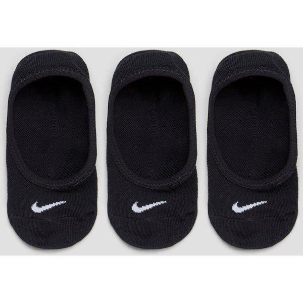 Nike Everyday Lightweight Trainings-Footie-Socken für Damen (3 Paar) - Schwarz
