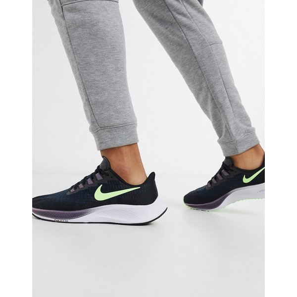 Nike Running - Air Zoom Pegasus 37 - Baskets - Noir/volt