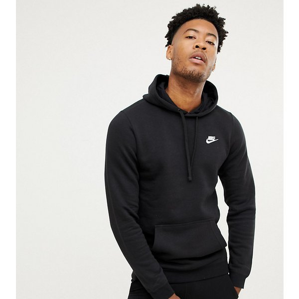 Nike Tall Pullover Hoodie With Swoosh Logo In Black