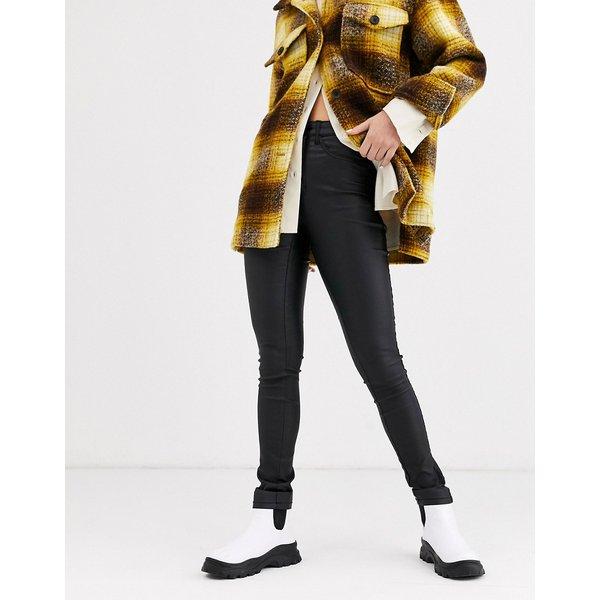 ONLY Onlroyal Hw Rock Coated Skinny Fit Jeans Women Black